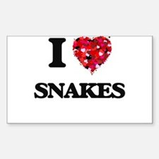 I love Snakes Decal