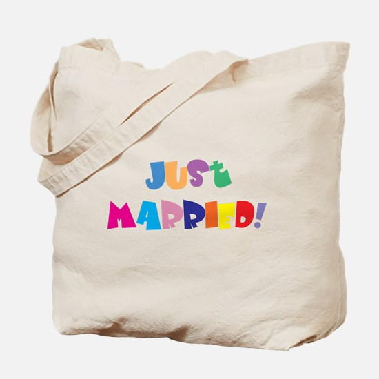 Fun Just Married Tote Bag