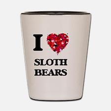I love Sloth Bears Shot Glass
