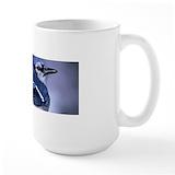 Blue jay bird Large Mugs (15 oz)