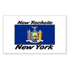 New Rochelle New York Rectangle Decal