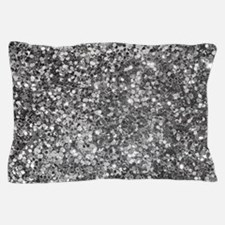 Black And White Sequence Glitter And S Pillow Case