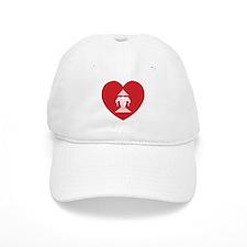 Laotian Erawan 3 Headed Elephant Heart Flag Baseball Baseball Cap