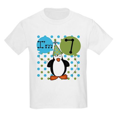 Penguin 7th Birthday Kids Light T-Shirt
