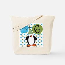 Penguin 6th Birthday Tote Bag
