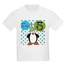 Penguin 5th Birthday T-Shirt