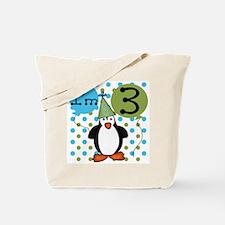 Penguin 3rd Birthday Tote Bag