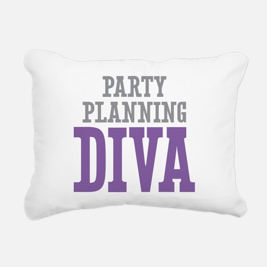 Party Planning DIVA Rectangular Canvas Pillow