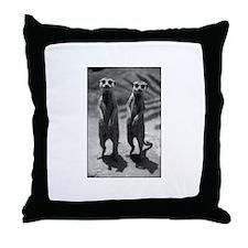 Cute Meerkats Photo Throw Pillow