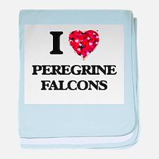 I love Peregrine Falcons baby blanket