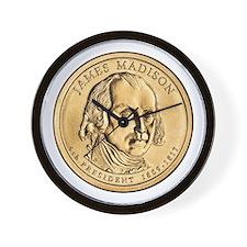 James Madison Dollar Coin Wall Clock