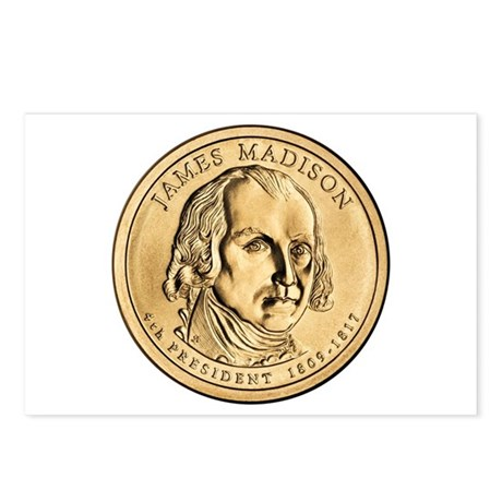 James Madison Dollar Coin Postcards (Package of 8)