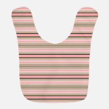 Pink and beige stripes Bib