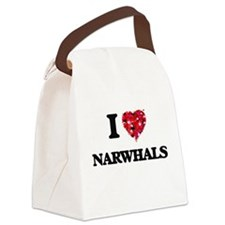 I love Narwhals Canvas Lunch Bag