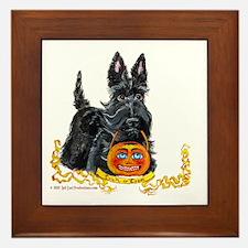 Halloween Scottish Terrier Framed Tile
