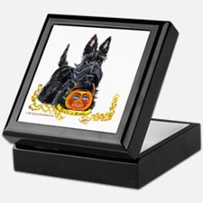 Halloween Scottish Terrier Keepsake Box