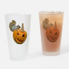 Squirrel Pumpkin Drinking Glass