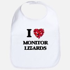 I love Monitor Lizards Bib