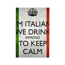 We Drink Espresso to Keep Calm Rectangle Magnet