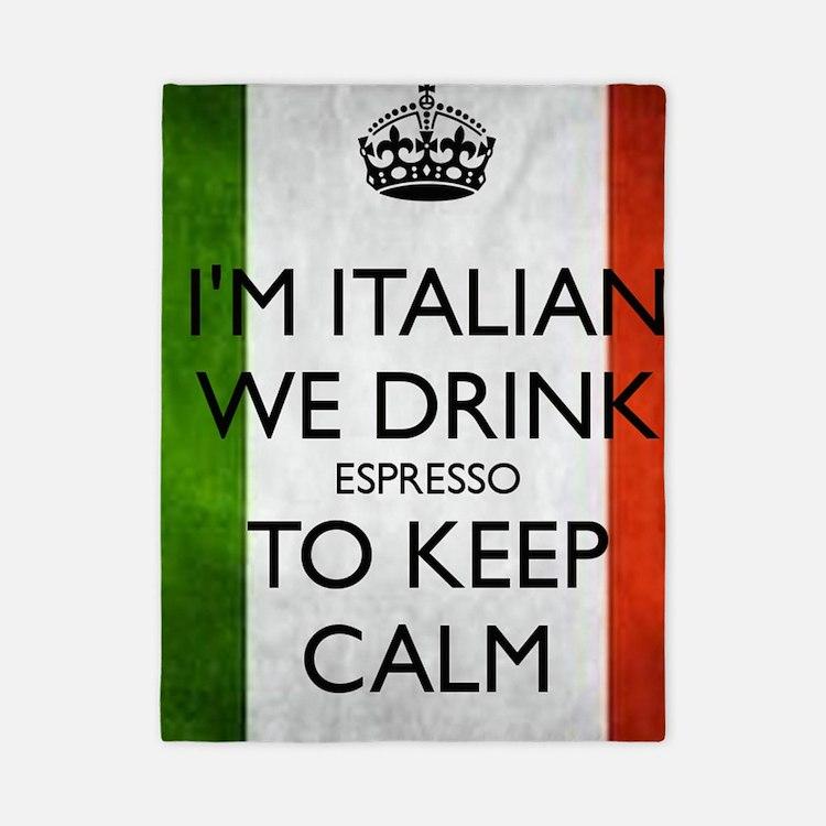 We Drink Espresso to Keep Calm Twin Duvet