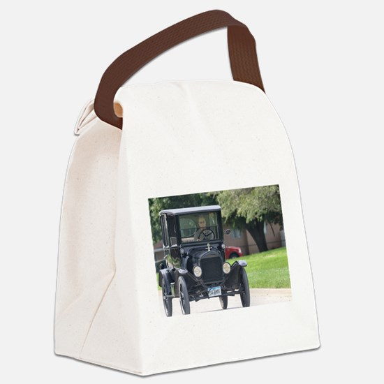 Funny Model a Canvas Lunch Bag