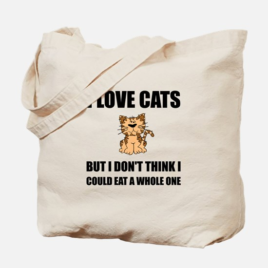 Eat A Whole Cat Tote Bag