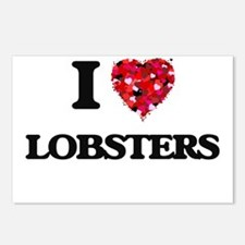 I love Lobsters Postcards (Package of 8)