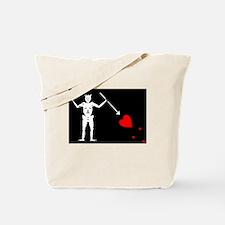 Pirate Flag Of Blackbeard Tote Bag