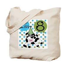 Cow 8th Birthday Tote Bag