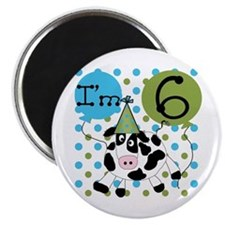 Cow 6th Birthday Magnet