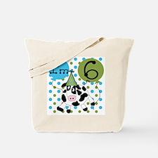 Cow 6th Birthday Tote Bag