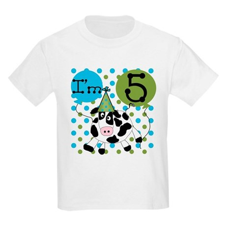 Cow 5th Birthday Kids Light T-Shirt
