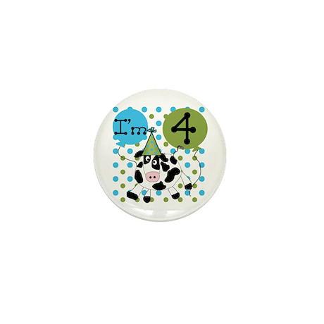 Cow 4th Birthday Mini Button