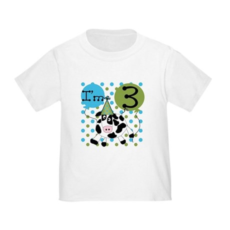 Cow 3rd Birthday Toddler T-Shirt