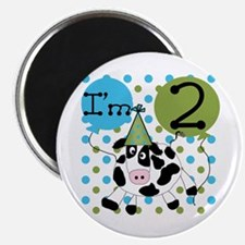 Cow 2nd Birthday Magnet