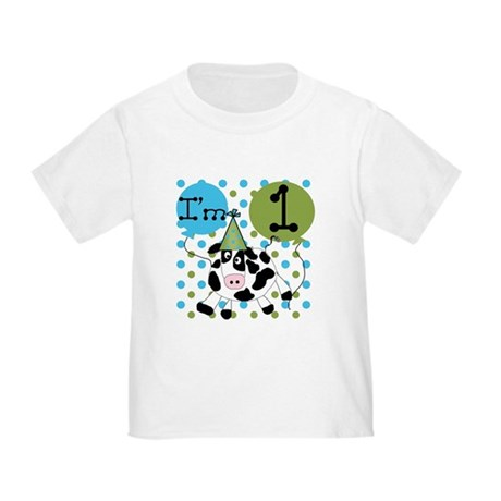 Cow 1st Birthday Toddler T-Shirt