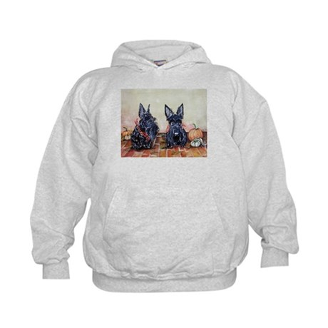 Autumn Scotties Kids Hoodie