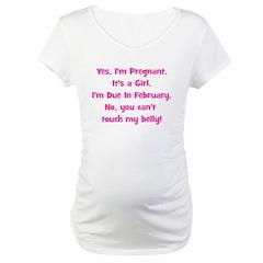 Pregnant Girl due February Be Shirt