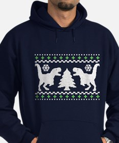 T-REX Ugly Christmas Holiday Sweater Hoodie