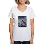 Howling Wolf 2 Women's V-Neck T-Shirt