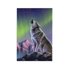 Howling Wolf 2 Rectangle Magnet