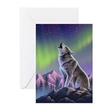 Howling Wolf 2 Greeting Cards (Pk of 20)