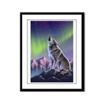 Howling Wolf 2 Framed Panel Print