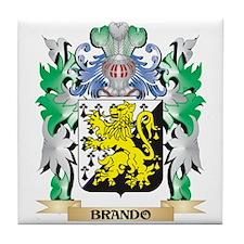 Brando Coat of Arms - Family Crest Tile Coaster