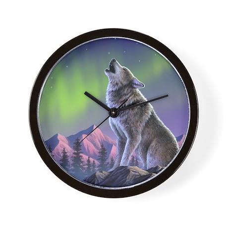Howling Wolf 2 Wall Clock