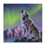 Howling Wolf 2 Tile Coaster