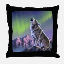 Howling Wolf 2 Throw Pillow