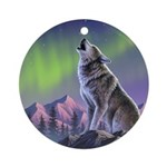 Howling Wolf 2 Ornament (Round)