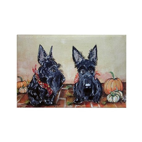 Autumn Scotties Rectangle Magnet (10 pack)