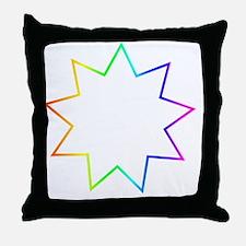 Bahai Symbol Throw Pillow